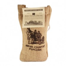 Tender & White kernels in burlap sack