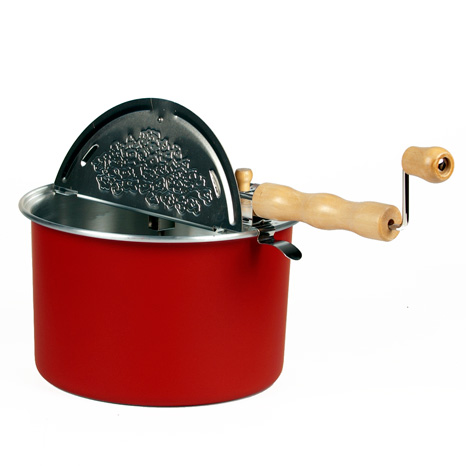 Barn Red Whirley Pop popcorn popper